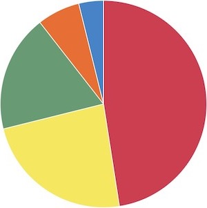 進学実績の割合グラフ