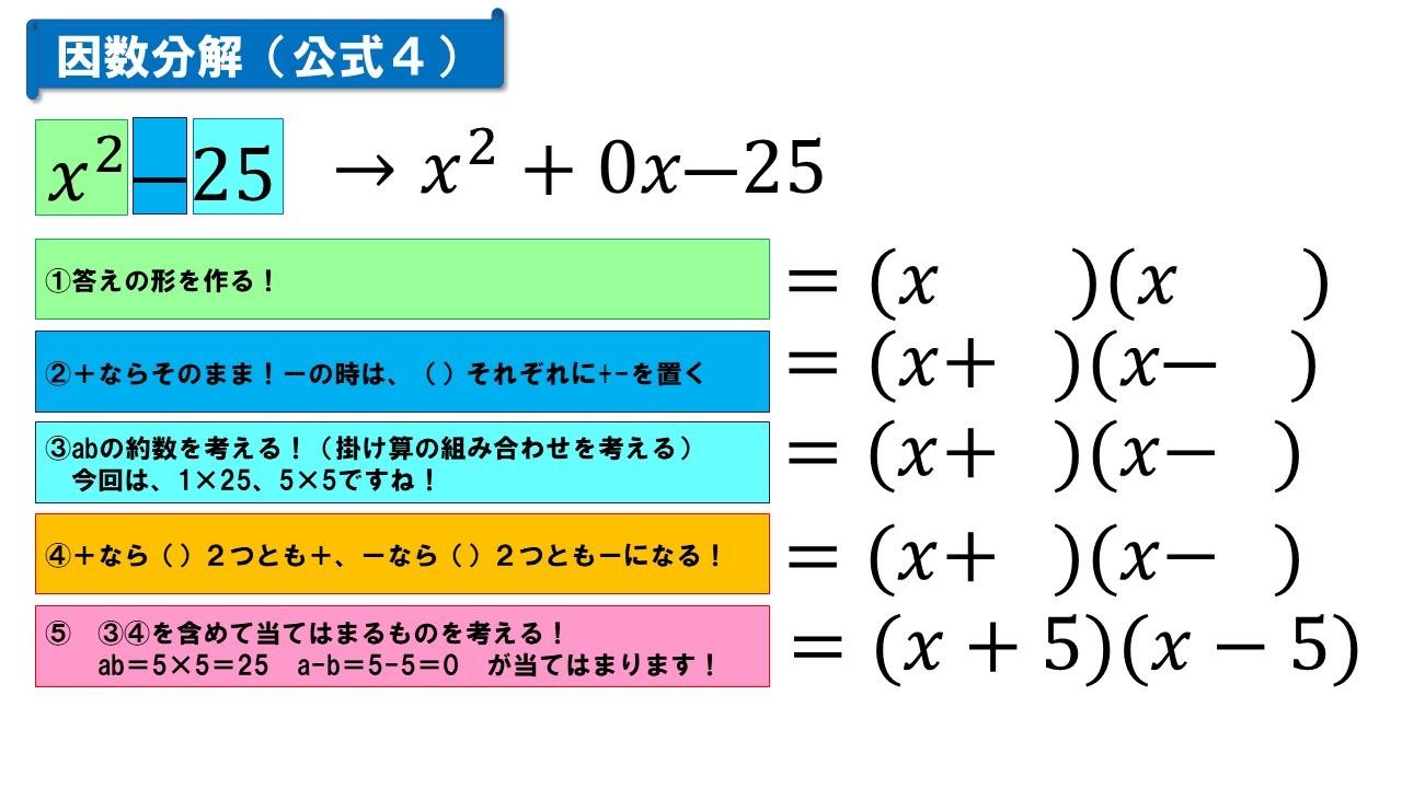 因数分解(公式4)