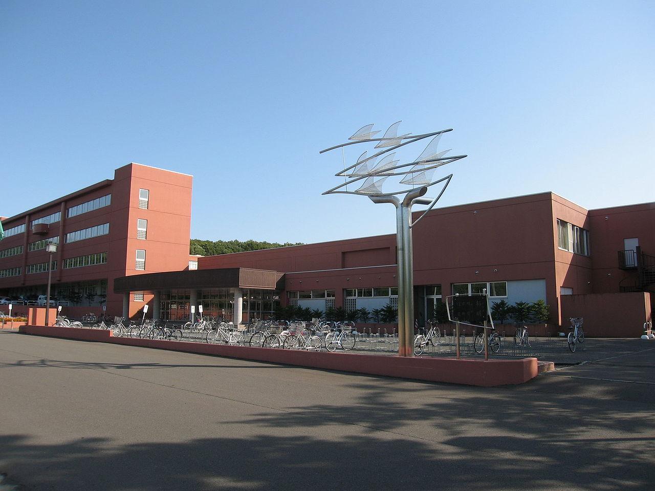 岩見沢緑陵高校の外観画像